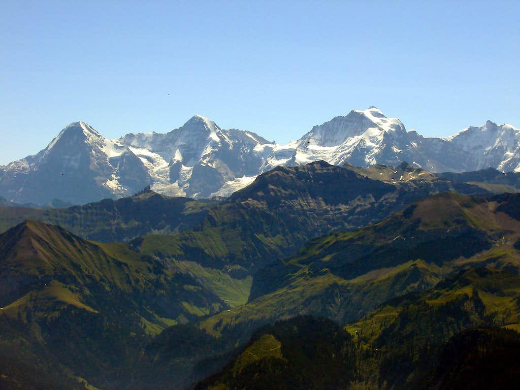 Eiger, Mönch and Jungfrau from Niesen