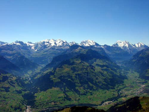 The eastern Bernese Alps from Niesen