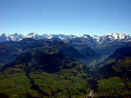 The Western Bernese Alps from Niesen