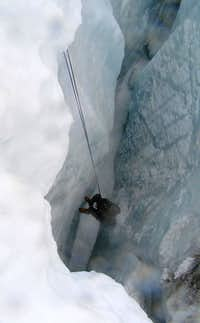 Hanging Inside The Crevasse