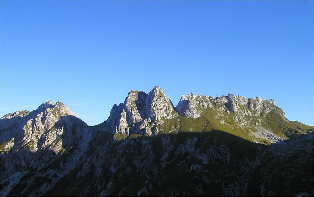 Skala, 2133m and Male Spice / Cime Verdi, 2167m