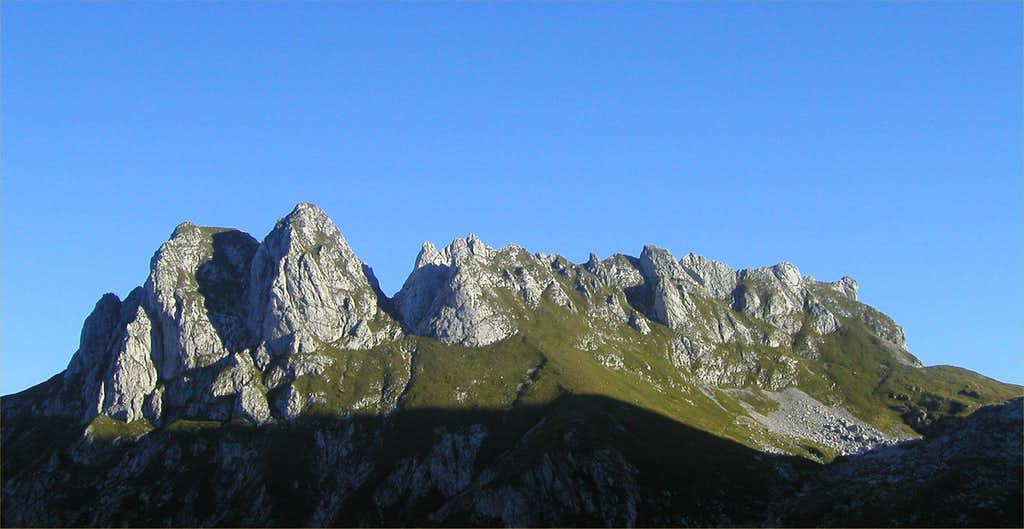 Male Spice / Cime Verdi, 2167m seen from Mali vrh