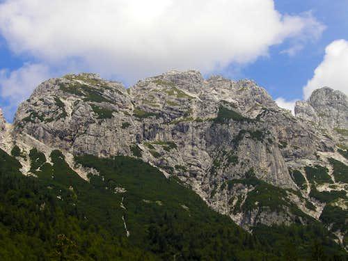 Skala, 2133m (on the left) and Velika Spica, 2165m.