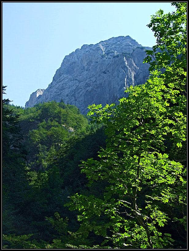 Vezica from the valley (SW)