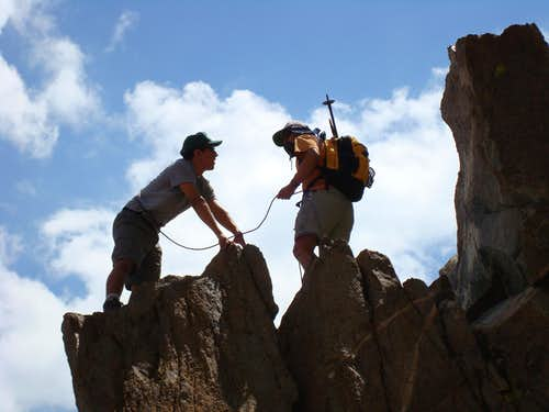 Coming Down Pinnacle (12,300'), Sierra Nevada