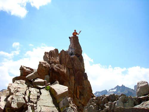 On Pinnacle (12,300') Above Sam Mack Lake