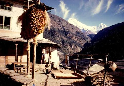 View of Annapurna South,...