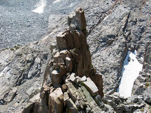 Rock Pinnacle (12,300') Above Sam Mack Lake