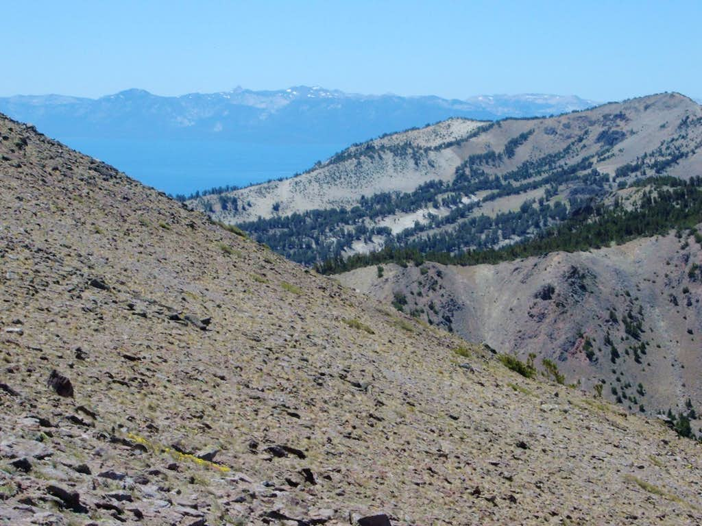 Relay Peak from the volcanic slopes of Mount Rose