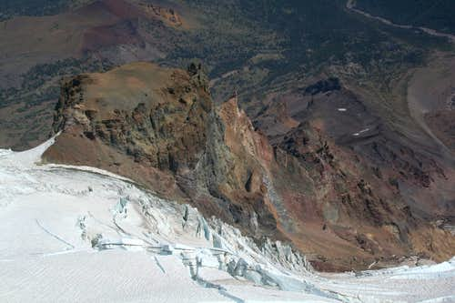 Mt. Adams, Mazama Glacier unroped