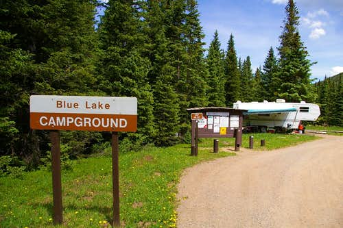 Blue Lake CG Entrance