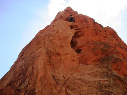 Near the top of the Red Spire