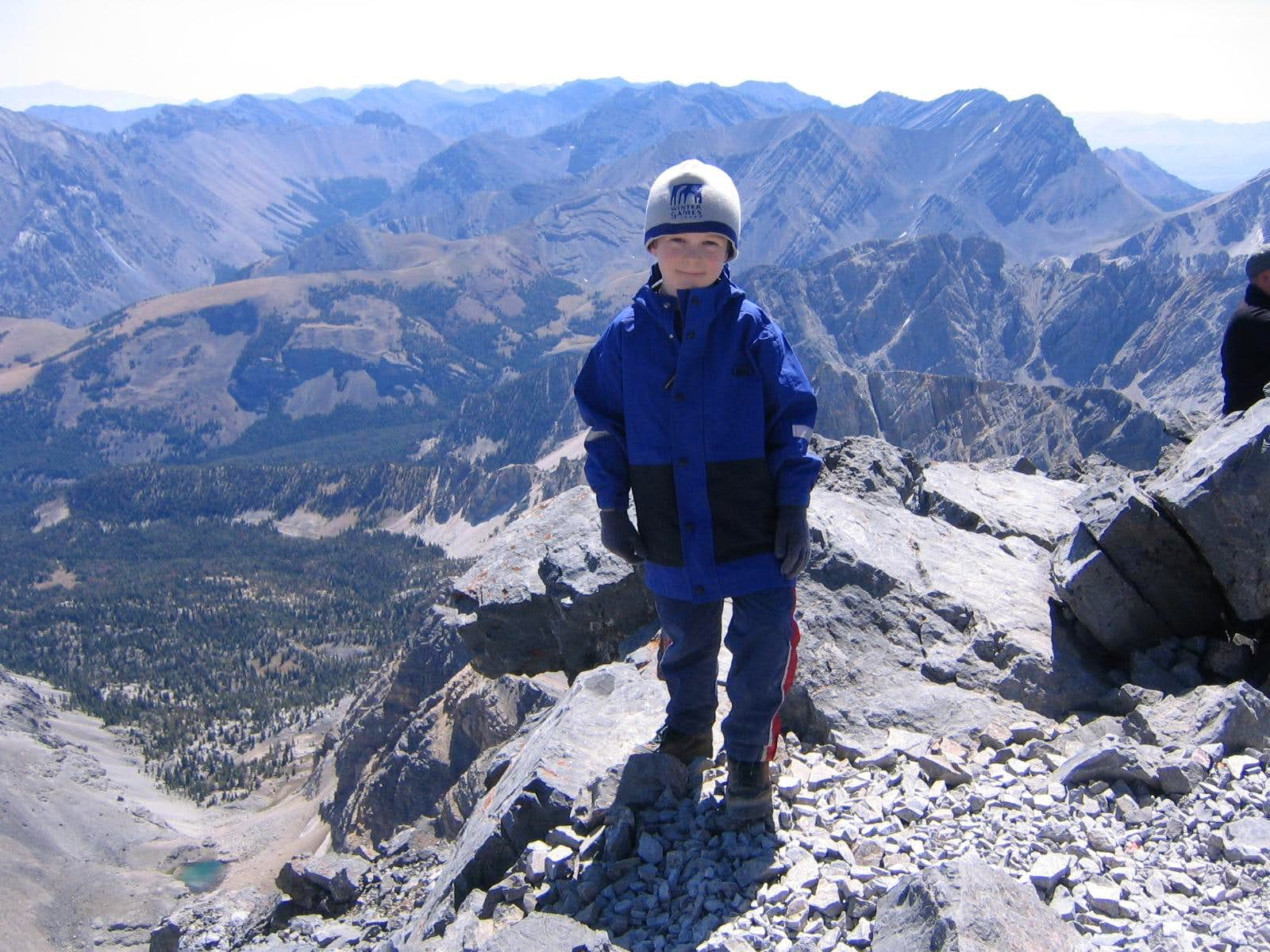 7 year old summits Borah Peak