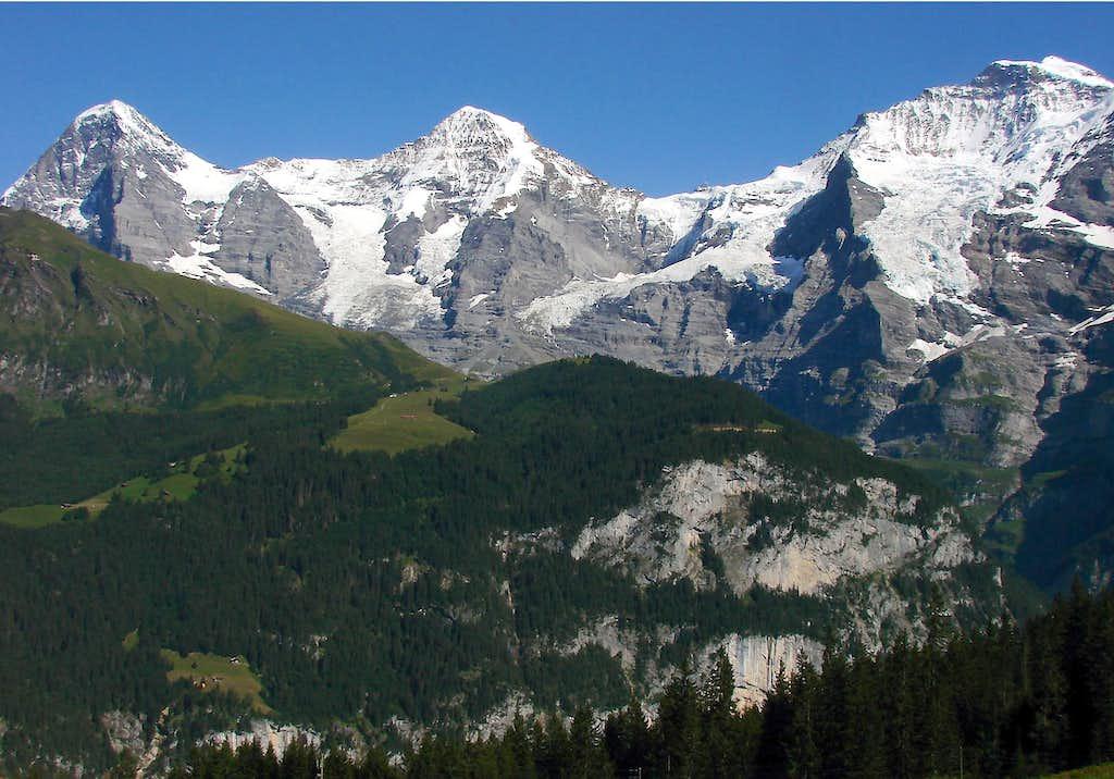 Eiger, Mönch and Jungfrau from Grütschalp
