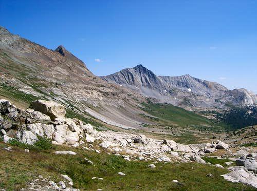 Stanton and Virginia Peaks form Spiller Creek