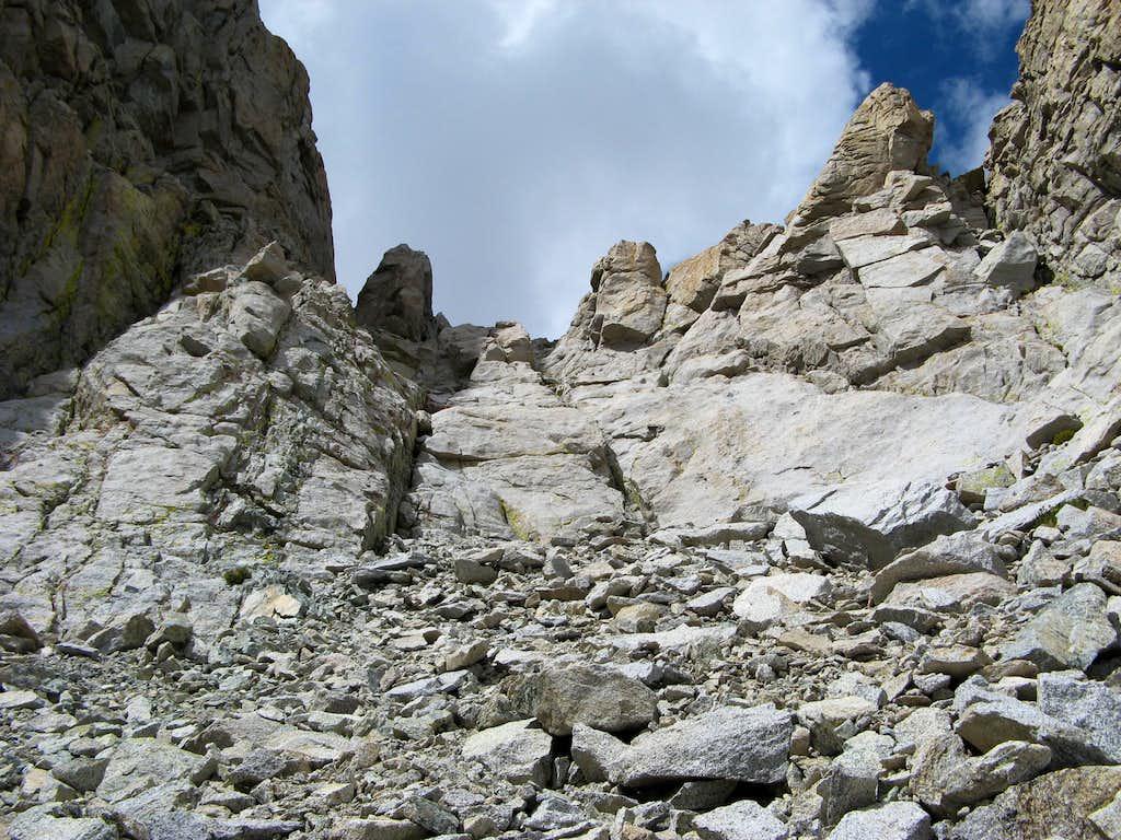 Headwall on Milestone Mountain