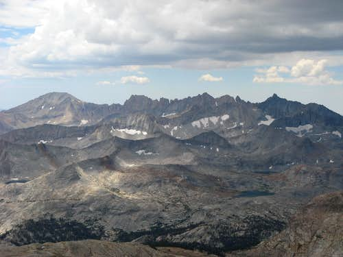 Kaweah Range from the summit of Milestone Mountain