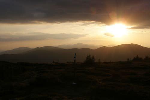Sunset from Velka Vapenica