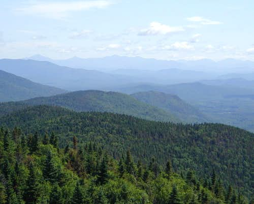 Cedar River Valley and High Peaks from Wakely Summit