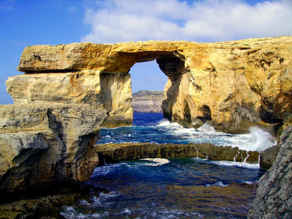 Azure Window Before And After Azure Window Gozo Photos Diagrams Amp Topos Summitpost