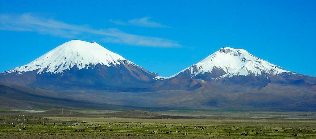 Parinacota (6330m) + Pomerape (6282m)