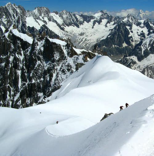 Ridge to Aiguille du Midi