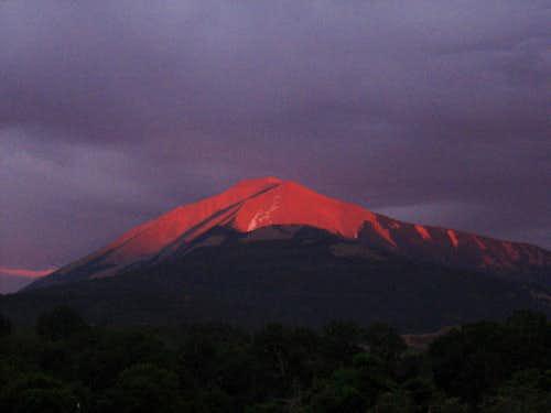 East Spanish Peak at Sunset
