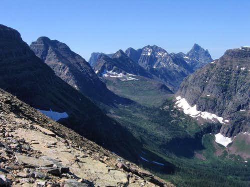 Looking South, from Dawson Pass...