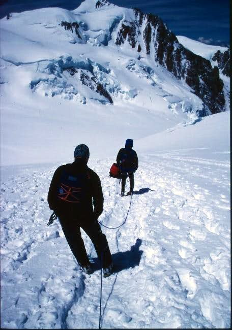 Descending Mont Blanc
