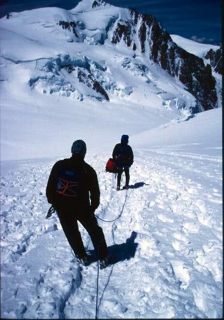 Descending Mont Blanc