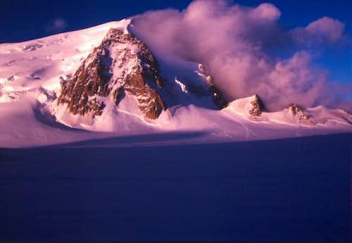 Mont Blanc du Tacul at Sunset