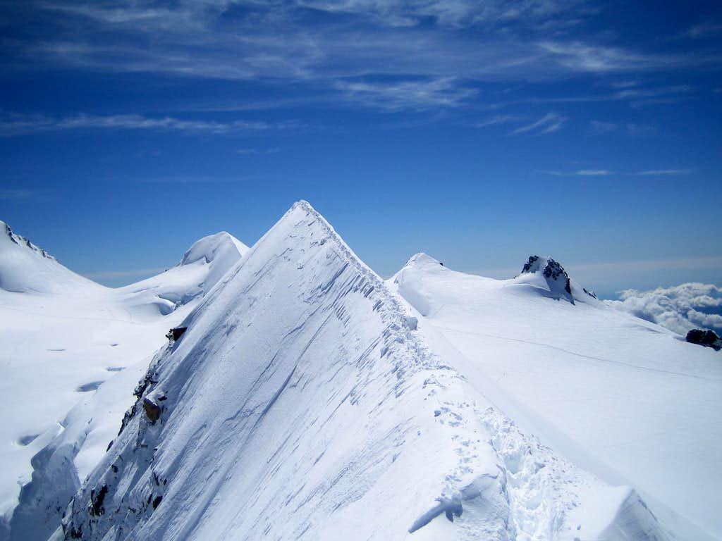 Sharp ridge of Lyskamm