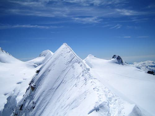 Sharp ridge of Lyskamm