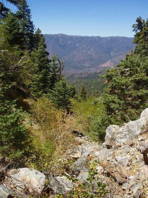 View across Santa Ana River Canyon