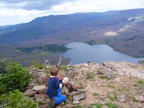 Trappers Lake from the summit