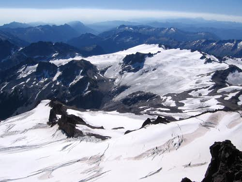SE From the Summit of Glacier Peak