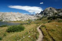 Trail into Titcomb Basin