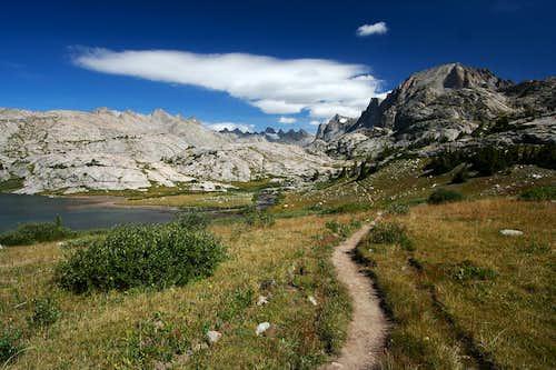 Trail into Titcomb Basin