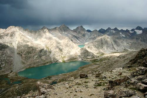 Upper Titcomb Basin from Fremont Peak