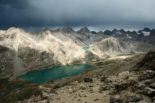 Upper Titcomb Basin from Fremont Peak