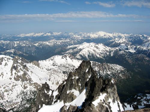 West from the summit of Stuart