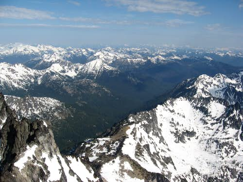 NW from the summit of Stuart