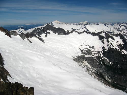 NW from the summit of Buckner