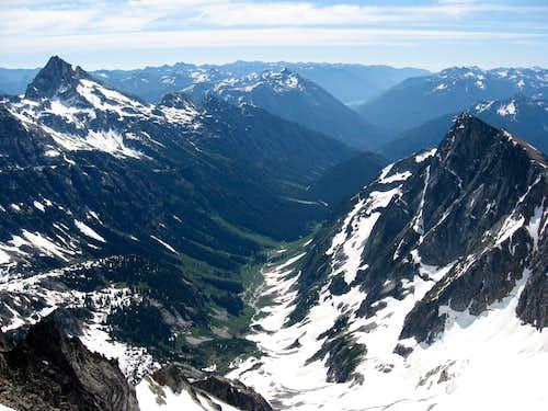 SE from the summit of Buckner