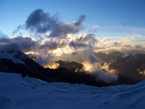 Sunset from the Col