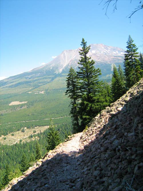The Trail with a Peak of Mt. Shasta.