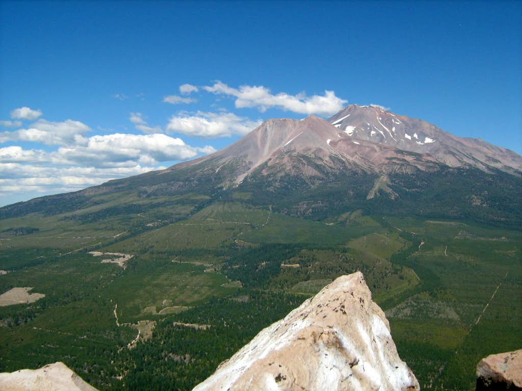 Mount Shasta from th summit of Black Butte