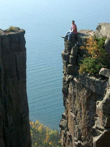 The daring chimney lookout,...