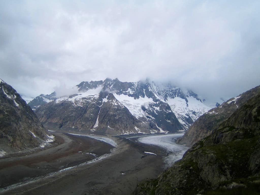 Lauteraar and Finsteraar glacier