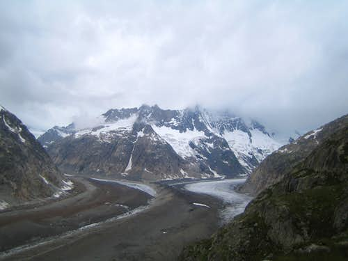Lauteraar and Finsteraar glacier